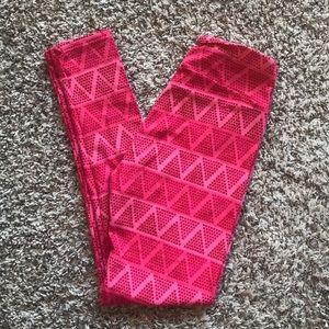 ❤️4/$25 LuLaRoe Pink XOXO Printed Leggings Women's